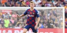 De Jong samen met Busquets op middenveld FC Barcelona
