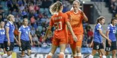 Oranje heeft een 'Appeltje Estje' en wint kwalificatieduel ruim: 0-7