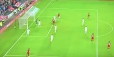 Video: Hoever (17) maakt met kopbal eerste goal voor Liverpool