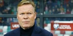 Koeman oogt geïrriteerd na kritiek op spel van Oranje