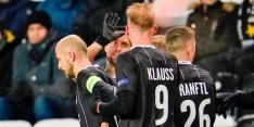 LASK Linz viert feest na overwinning in Noorwegen