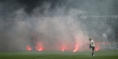 Vuurwerkincident ontsiert duel tussen Mainz en Eintracht