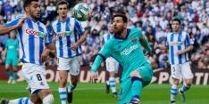 Fouten kosten koploper Barcelona punten bij Sociedad
