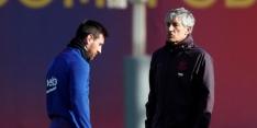 """Setien staat middenin Barcelona-storm: """"Ik heb Messi zien lachen"""""""