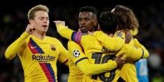 Barcelona komt recorddoelpunt Mertens te boven en pakt uitgoal