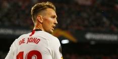 De Jong ziet Sevilla diep in extra tijd ontsnappen tegen tien man