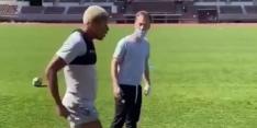 Video: Neres werkt in Olympisch Stadion hard aan herstel