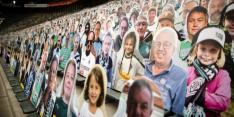 Stadion Mönchengladbach uitverkocht met kartonnen supporters
