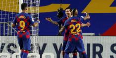 De Jong-loos Barça blijft foutloos na coronastop: 2-0
