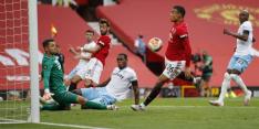 Manchester United speelt gelijk, maar komt wel op pole-position