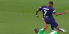 Video: Mbappé met spijkerharde tackle uit bekerfinale getrapt