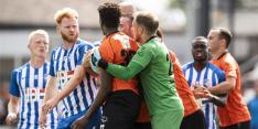 Verhit oefenduel Katwijk - Eindhoven al voor rust beëindigd