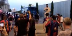 Boze Barça-supporters dringen Camp Nou binnen