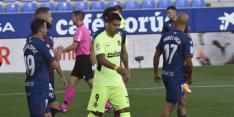 Suárez kan Atlético niet aan zege helpen bij Huesca