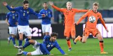 Oranje pakt punt bij Italië na prima optreden in nieuw systeem: 1-1