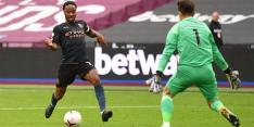 Man City morst bij West Ham United opnieuw punten