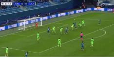 Video: Zenit scoort na potje hooghouden in de zestien van Lazio