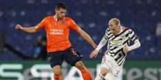 Van de Beek pijnlijk onderuit met United in Turkije, remise Lazio
