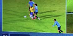 Video: Cavani krijgt rood na smerige tackle, wissel Richarlison