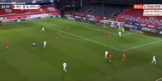 Video: Courtois blundert na terugspeelbal tegen Denemarken