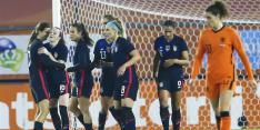 Oranje net als in WK-finale maatje te klein voor Amerika