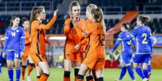 Oranje ondanks matige eerste helft weer royaal langs Kosovo: 6-0