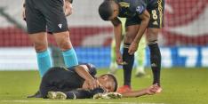 Mogelijk slecht nieuws voor Ajax: Neres met onderbeen in brace
