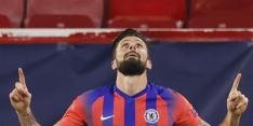 Giroud maakt er vier voor Chelsea, Barça nog foutloos
