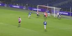 Video: Feyenoord 0-2 achter ondanks twijfelmoment bij arbitrage