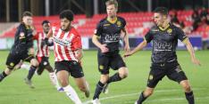 Roda JC speelt weer gelijk, nu bij Jong PSV: 1-1