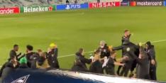 Video: spelers BMG zien Inter gelijkspelen en gaan uit hun dak
