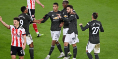 United komt blunder Henderson te boven en zet uitreeks voort