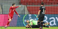 Lewandowski maakt in slotfase het verschil tegen Leverkusen
