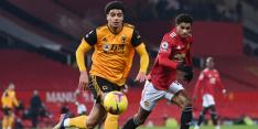 Inspiratieloos United wint in slotfase van reuzendoder Wolves
