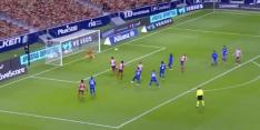 Video: Suárez kopt Atlético Madrid fraai op voorsprong