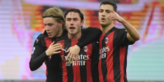 Uitgekleed AC Milan blijft door wereldgoals in Italiaanse titelstrijd