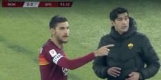 Video: AS Roma wisselt te vaak, spelers twijfelen bij wissel