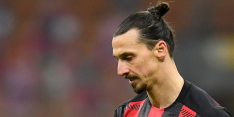 Zapata sneert naar Zlatan, die op typische wijze terugslaat