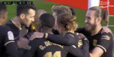 Video: Frenkie de Jong zet Barça vlak voor rust op voorsprong