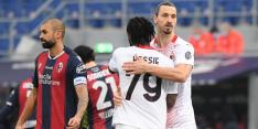 Milan wint ondanks gemiste pingel Zlatan van Bologna