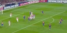 Video: Messi maakt met heerlijke vrije trap jubileumgoal in stijl