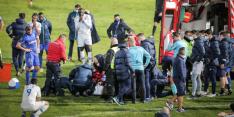 Schrikken: Porto-speler verliest bewustzijn na botsing