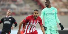 Verdedigende fouten worden PSV fataal op bezoek bij Olympiakos