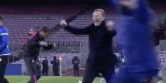 Mooie beelden: Messi en Koeman uit hun plaat na late goal