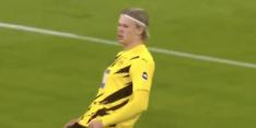 Video: Haaland opent na 74 seconden score in Duitse kraker