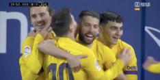 Video: Alba poeiert binnen na briljante assist Messi