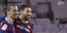 Video: Messi opent op sublieme wijze score in jubileumduel