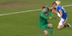 Video: rood voor Rangers-speler na schandalige trap in gezicht