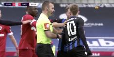 Video: Lang krijgt rode kaart en ruziet met tegenstander