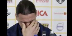 Zlatan breekt op persconferentie na vraag over reactie kinderen